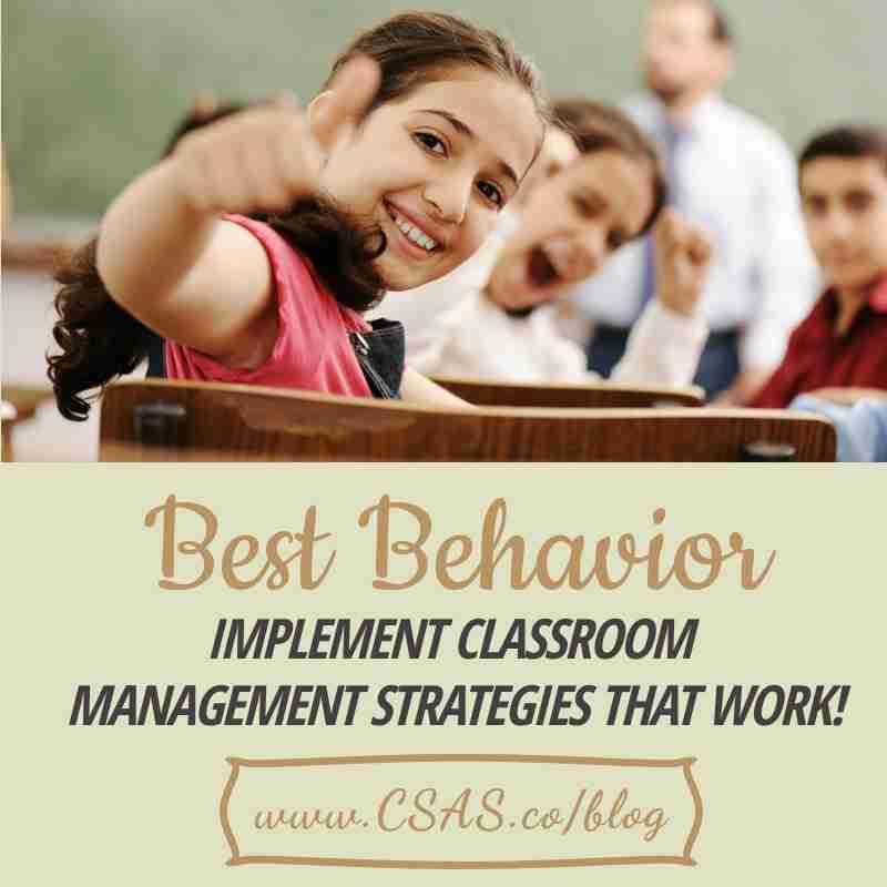 Best Behaviors Implement | Classroom Management Strategies
